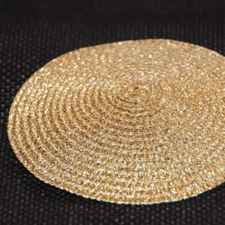 fascinator basis goud metallic