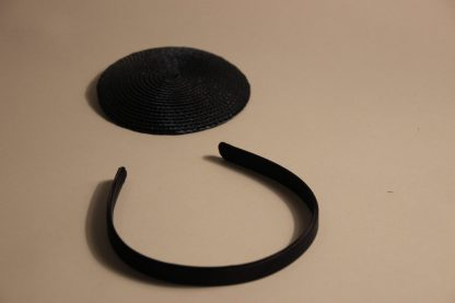 Diadeem satijn zwart