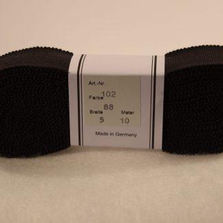 Ripsband lava grijs