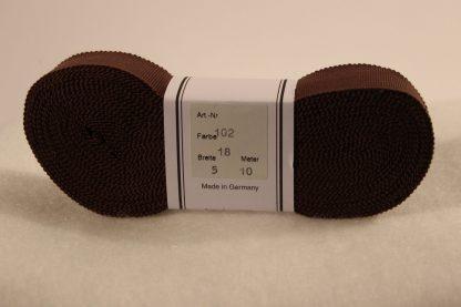 Ripsband bruin