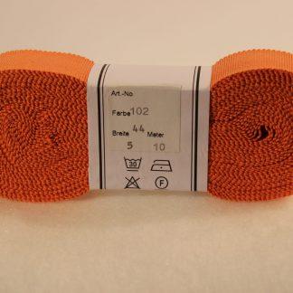 Ripsband mandarijn oranje