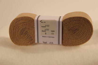 Ripsband pasta beige